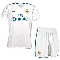 Equipación Infantil Réplica Oficial del Real Madrid Ronaldo Nº 7 Temporada 17/18 (Talla 2)