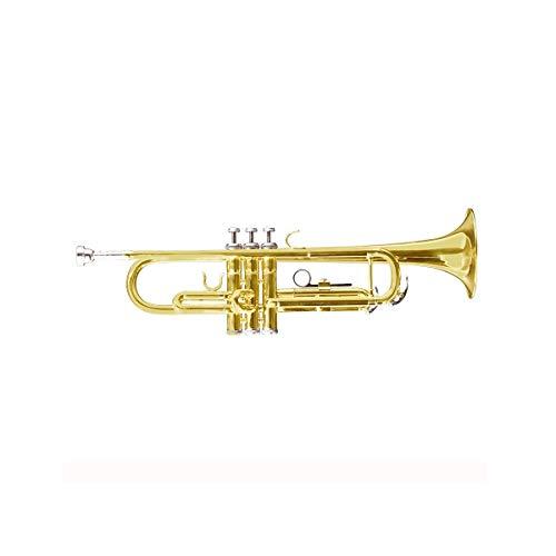 Haoyushangmao Professionelle Standard-Trompete für Einsteiger, geeignet für Anfänger- und Bandaufführungen, Key of # A (BB), Lackiertes Goldkupfer-Material, Schöner Ton ( Color : Gold )
