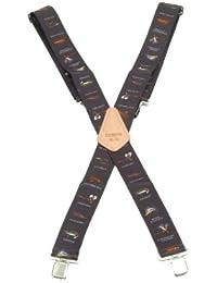 Kunys SP15BF Hosenträger, 5cm breit, Schwarz