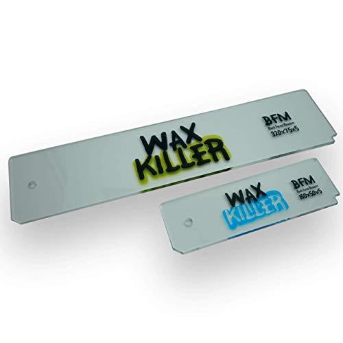 Wax-Killer Wachs Abziehklinge Set Wachsabziehklingen - Wachsrakel in Zwei Größen 5mm stark.