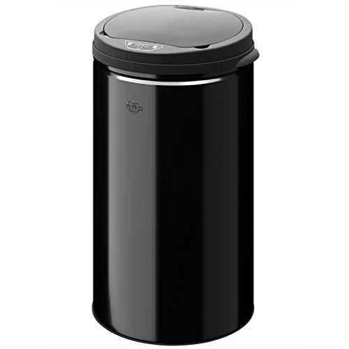 Deuba Poubelle automatique de 56 litres avec capteur de mouvement - Noire - Poubelle inox - Vide ordure sensoriel
