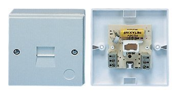 BT Plug 2/4A Master Telephone Socket Face Plate & Screw Connections
