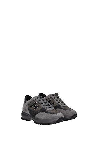 HXC00N025829MWB401 Hogan Sneakers Kind Wildleder Grau Grau