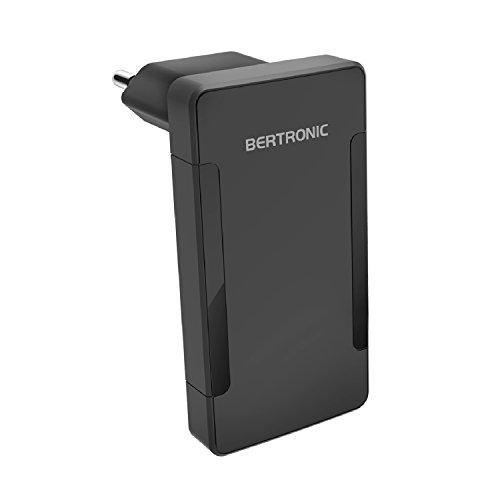 BERTRONIC Companion BC321E 2-Port USB Ladegerät im Slim-Design ★ 2X USB mit 3.4A ★ Einklappbarer Stecker ★ für iPhone, Galaxy, iPad, Sony, HTC, Samsung, LG und viele mehr Slim-port