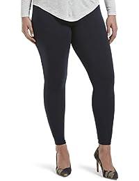 abf019a473b HUE Women s Wide Waistband Blackout Cotton Leggings