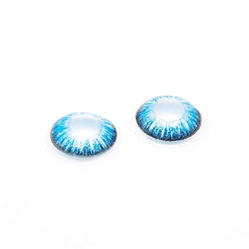Eye Effect farbige Kontaktlinsen in vielen Farben für schöne natürlich Augen + gratis Kontaktlinsenbehälter (Blau Aqua) - 3