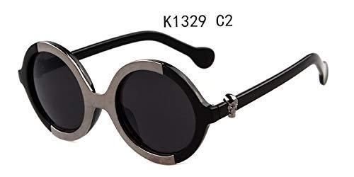 ZHAS High-End-Brille Sommer Runde Sonnenbrille Herren Brille Damen Retro Personalisierte High-End-Sonnenbrille