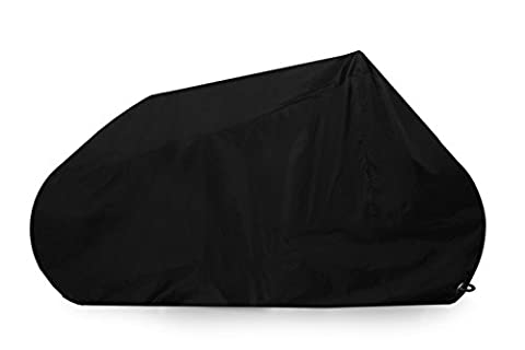 Motorcycle Cover - Goose - Premium Grade Lockable Motorbike Cover - Heavy Duty 210D Waterproof Oxford Fabric - The Ultimate Motorcycle Protection - Black - Various sizes. (Size