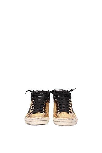 G26D129RC Golden Goose Sneakers Femme Tissu Or Or