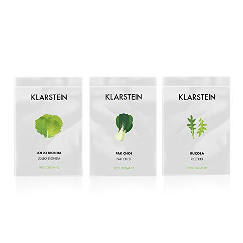 Klarstein GrowIt Seeds Salad - 3 sachets de graines, Lollo bionda, Pak-choi, Roq
