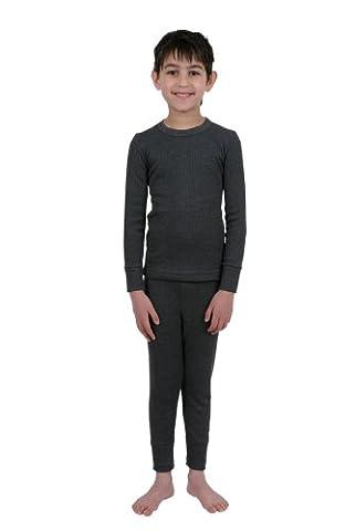 Boys Thermal Underwear British Made Set Long Sleeve Vest &