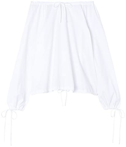 FIND Women's Oversized Blouse, White, XX-Large