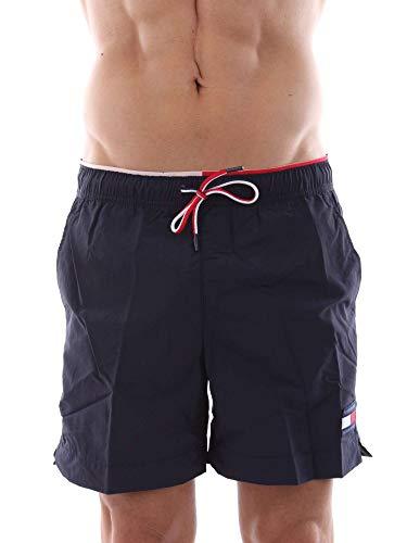 Tommy Hilfiger Solid Short Drawstring Badeshorts Navy Blazer (Drawstring Shorts)