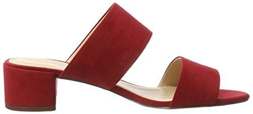 ESPRIT Damen Venga Two Band Sandeln Rot (610 Dark Red)