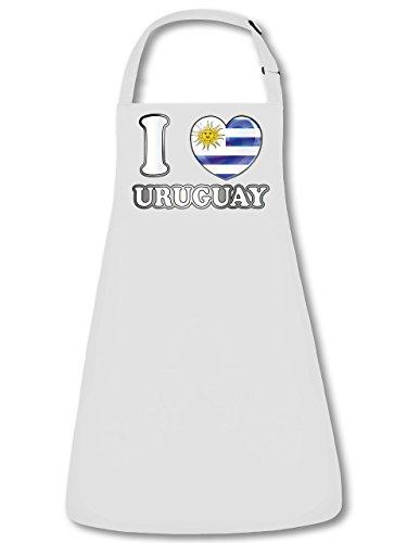 I Love Uruguay Fan Delantal Delantal, delantal con cuello ajustable VERS. Colores golebros