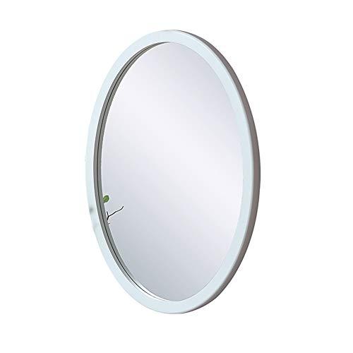 Sauberer großer moderner hölzerner Kreis-Rahmen-Wand-Spiegel   Zeitgenössische Premium Silber hinterlegte schwimmende runde Glasscheibe   Waschtisch, Schlafzimmer oder Badezimmer   Hängend -