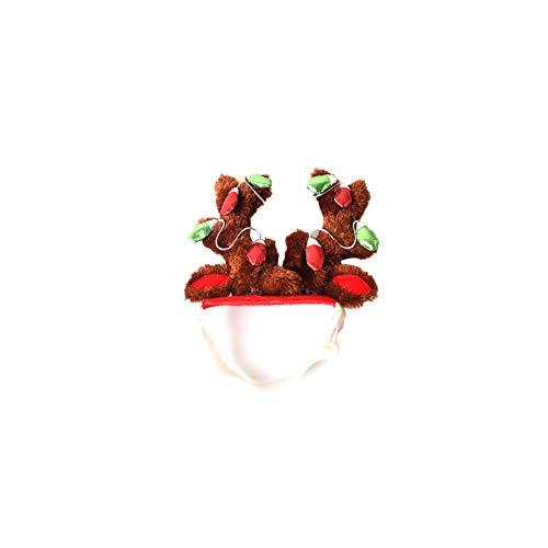 Kostüm Elf Pet - Deanyi Hund Elk Rengeweih Hut Mütze Netter Weihnachts Elf Kostüm Cute Pet Kopfbedeckung Haar Grooming Zubehör Party Accessories S