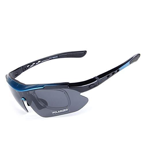 Fahrradbrille Clear Reiten Polarisierte Sonnenbrillen Mountainbike Winddicht Brille Multi Piece Reitbrille Set Blue Black Damen Herren