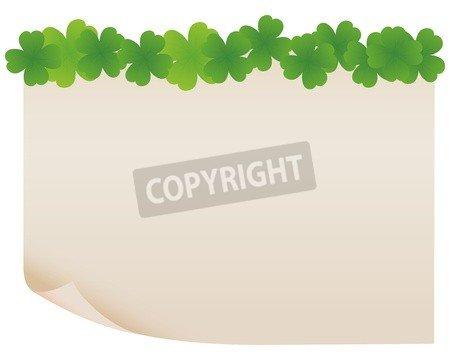 "Leinwand-Bild 80 x 60 cm: ""green paper frame"", Bild auf Leinwand"