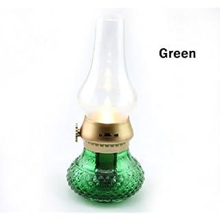 A-szcxtop(TM) Rechargable Blow LED Lamp Retro Nostalgic Kerosene Sensor Candle