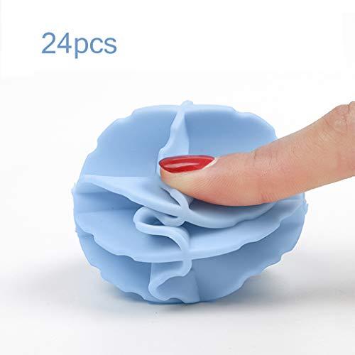 Rventric Waschender Ball, Wäscherei-Ball 24PCS Starkes Reinigungs-Waschen Beseitigt Form, Entfernt Flecken-Magie-Wäscherei-Ball Freundliches Wiederverwendbares Perfektes Geschenk (6 * 6Cm) -
