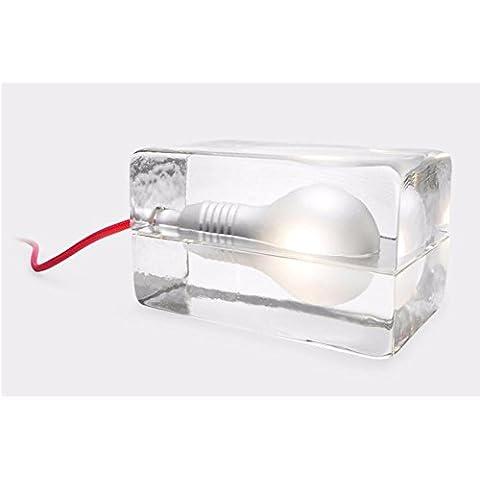 Nariz creativo cristal el hielo cama decorativa Lámpara de mesa minimalista dormitorio Bloquea 3d luz nocturna Cumpleaños Regalos G9LED L12* W8* H8cm