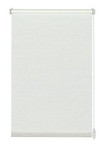 GARDINIA Rollo zum Klemmen oder Kleben, Tageslicht-Rollo, Blickdicht, Alle Montage-Teile inklusive, EASYFIX Rollo Natur, Weiß, 75 x 150 cm (BxH) (Papier-mini-jalousien)