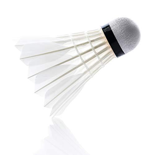 larum sports Federbälle/Badminton Bälle/Naturfederbälle/Shuttlecocks hoher Stabilität und Haltbarkeit, perfekt für Indoor Training und Spielpraxis, Hobby und Verein, 12 Stück -