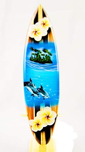 Asia Design Nr 6 - Tabla Surf Miniatura Madera, Altura