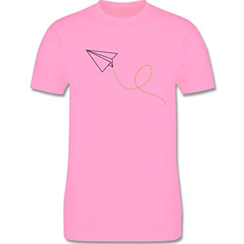 Symbole - Papierflieger - Herren Premium T-Shirt Rosa