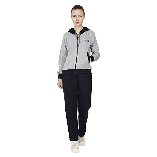 Strak Grey Cotton Track Suit For Women Size:- M  available at amazon for Rs.749