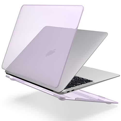 SLEO Hülle für MacBook Air 13(2018 Freisetzung) A1932,Ultradünne Plastik Hartschale Transparent Schutzhülle Snap Case Cover für Apple MacBook Air 13.3 Zoll-Lila Lila Cover Case Snap