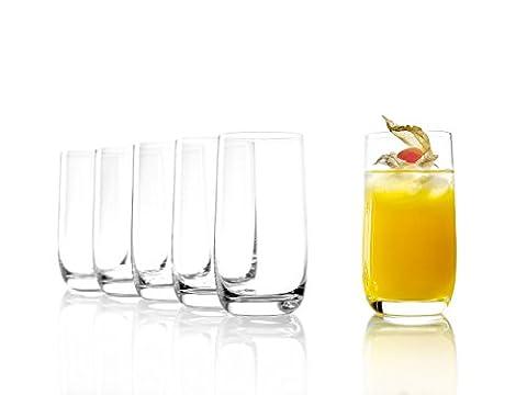 Stölzle Lausitz Saftgläser/Wasserglässer Weinland 315ml, 6er Set Wasserglas, bleifreies Kristallglas,