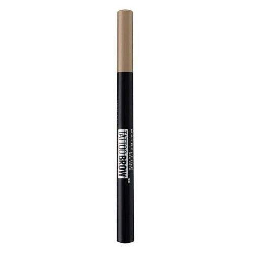 Maybelline New York Penna per Sopracciglia Tattoo Brow, Risultato Definito e Ultra-Preciso Fino a 24H, 12 Medium Brown, 4.6 g