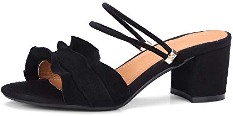 AdeeSu SLC04430, - Bout Ouvert Femme - SLC04430, Noir - Noir, 36.5 EUB07GLKZ2RZParent ed37f2