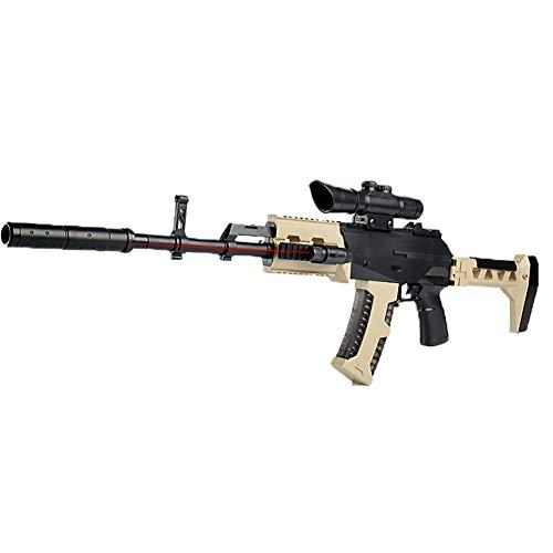 AngryMan Pistola de Agua de Tiro con Juguete de Batalla de acción en Vivo AK47 de acción en Vivo con Balas de Cristal de Agua Blanda de Gel de 7-8 mm