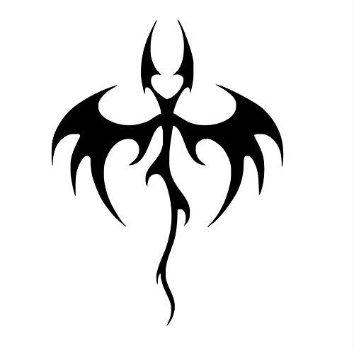 Wmbz Etiqueta Autoadhesiva Decoración De La Pared Animal Vinilo Creativo Extraíble Tribal Bat Dragon Etiqueta De La Pared Para La Sala De Estar 44X59 Cm