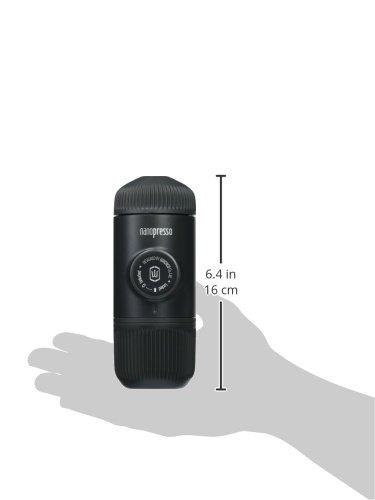 WACACO Nanopresso Portable Espresso Maker Bundled with Protective Case, Upgrade Version of Minipresso, Mini Travel…