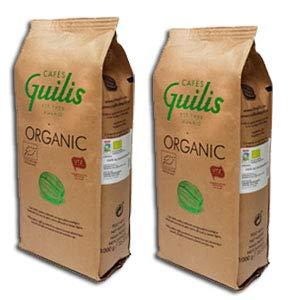 CAFES GUILIS DESDE 1928 AMANTES DEL CAFE - Caffè Biologico in Grani - Bio Alta Qualità Chicchi di Caffè Organici 100% Arabica - Confezione da 2 Kg