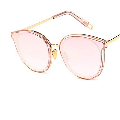 hw New Damenmode Sonnenbrillen Mode Metallrahmen Retro-Design, 100% UV400 Schutz