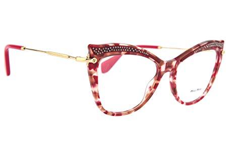 Miu Miu Damen Brillengestell Mehrfarbig Tartarugato Bordeaux E Cipria Einheitsgröße