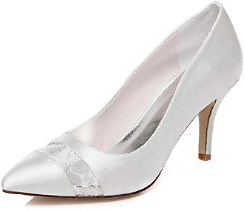 La Mujer Tacones Tacones Zapatos De Boda Boda / Fiesta &Amp; Noche 3A-3 Blanco De 3/4 Pulg.