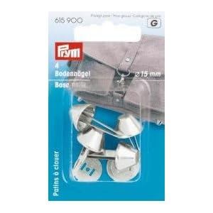 615900 - Bodennägel für Taschen 15 mm silberfarbig