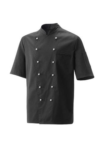 Schwarze Kochjacke kurzarm Größe XL, Mod. 201 von Exner (Kurzarm-kochjacke)