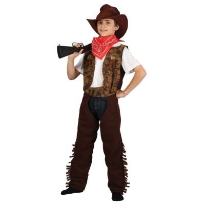 Cowboy Or Cowgirl Childrens Fancy Dress Costume Wild West Kids Outfit