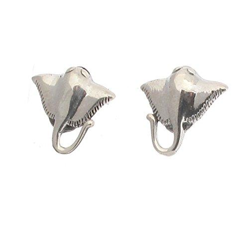 Touch Jewellery Sterling Silber 925 Rochen Fisch Ohrstecker Ohrringe