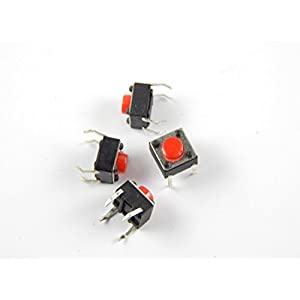 Robo India TECSW Tactile Switch micro – Push to ON button (Set of 20)