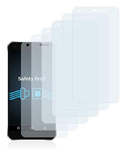 Savvies Schutzfolie für Elephone S1 [6er Pack] - klarer Displayschutz