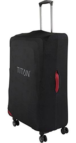 TITAN Luggage Cover UNIVERSAL - aus elastischem Spandex Polyester für 4-Rad Trolleys L, 77 cm, Black - 2