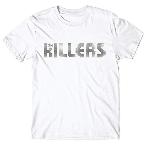 LaMAGLIERIA Herren-T-Shirt The Killers - T-Shirt Indie Rock Band 100% Baumwolle, L, weiß (Killers Band-shirt)